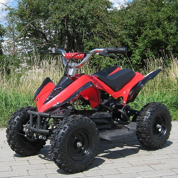 Elektro Quad Miniquad Kinder Atv Racer 800 Watt Pocketquad Kinderquad rot/schwarz