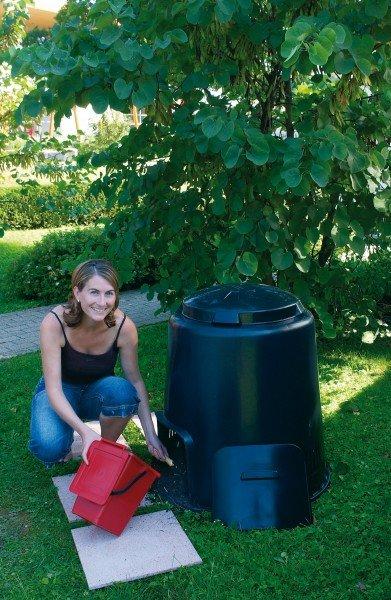 Komposter 280 Liter Garantia ECO schwarz