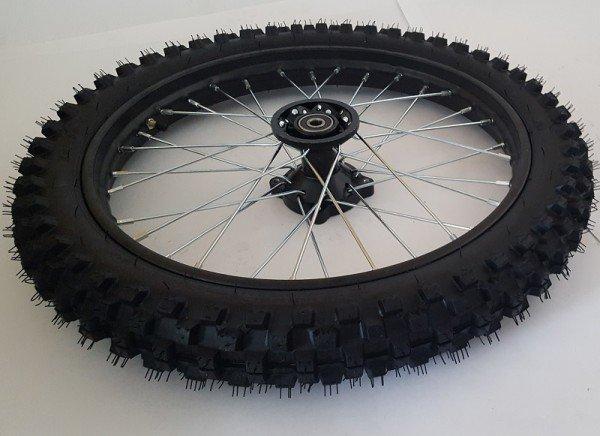 """Komplettrad 14"""" hinten Racing - achse ø12mm - Dirtbike Pitbike Mini Moto Crossbike"""