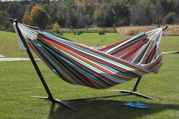 Doppel Hängematte Vivere Sunbrella® inkl. Gestell 280cm