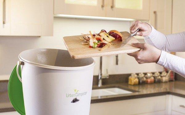 Küchenkomposter 15 Liter Garantia Urban Komposter weiß-grün