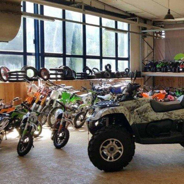 Fahrzeug-Aufbau: Miniquad / Dirtbike mit mehr als 125cc/1000W