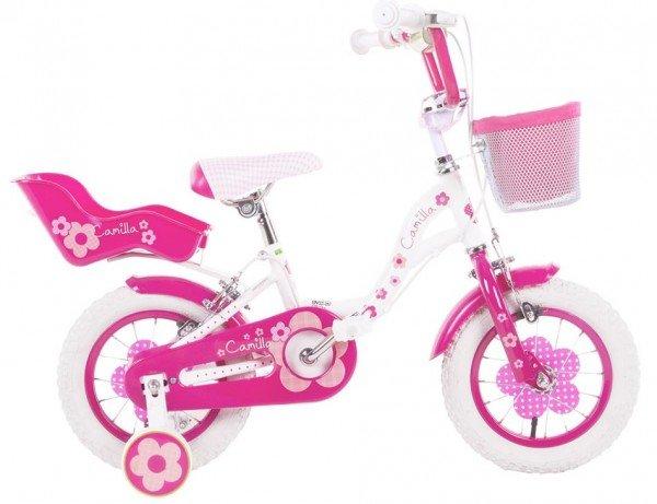 "Kinderfahrrad 12"" M.S. Girls Camilla weiß/pink"