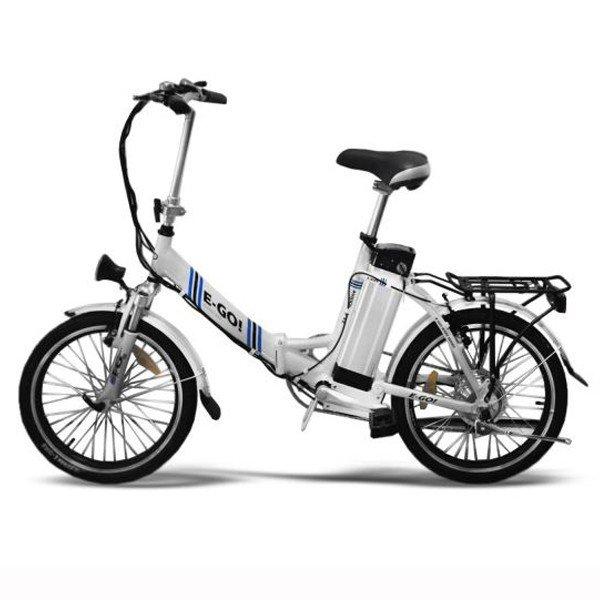 """20"""" Elektro-Bike E-GO! Quickline Z1 Klapprad weiß"""