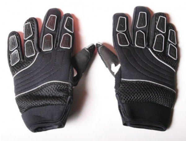 Motocross Kinderhandschuhe Cross Handschuhe für Kinder aus Nylon schwarz