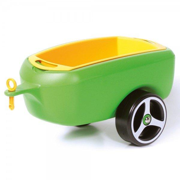 BRUMEE Kinder Rutschauto Hänger Caree grün-gelb