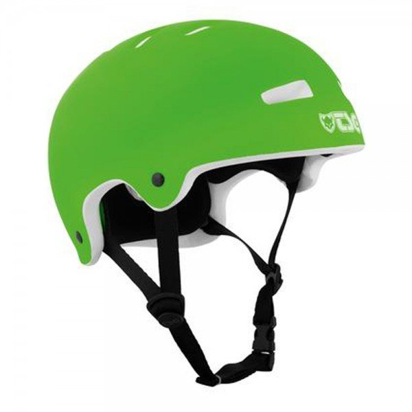 TSG SUPERLIGHT Solid Colors MTB BMX Helm flat lime green XXL