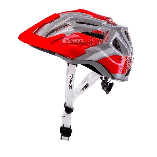 O'Neal Fahrradhelm Q Helmet rot-grau