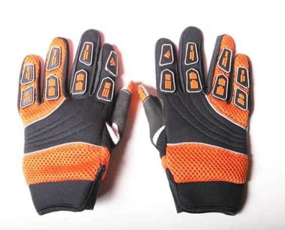 Motocross Handschuhe Cross Handschuhe für Erwachsene aus Nylon orange