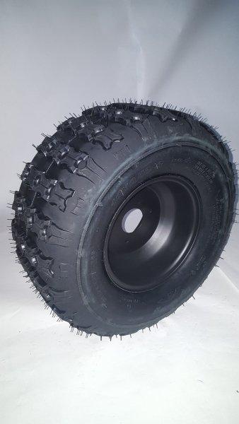 Komplettrad Felge mit Reifen 3-Loch 18x9,5-8 schwarz