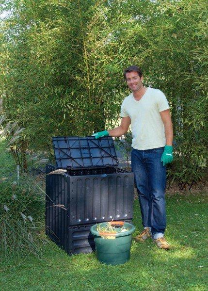 Komposter 400 Liter Garantia ECO King schwarz