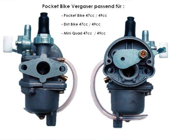 Vergaser 49cc für Pocket Bike und Miniquad N20 P
