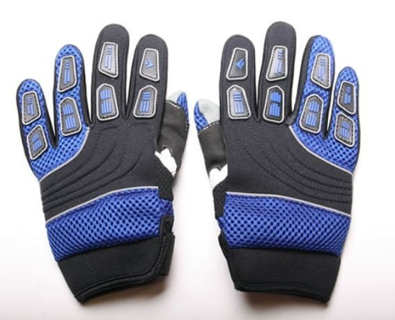 Motocross Handschuhe Cross Handschuhe für Erwachsene aus Nylon blau