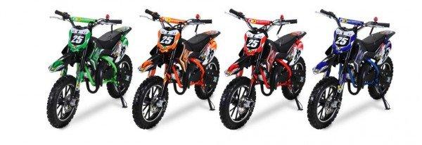 "49cc Kinder Mini Crossbike ""Gepard"" 2-Takt - Tuning Kupplung - Easy Pull Start verschiedene Farben"