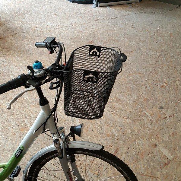 Abnehmbarer Fahrradkorb mit Tragegriff
