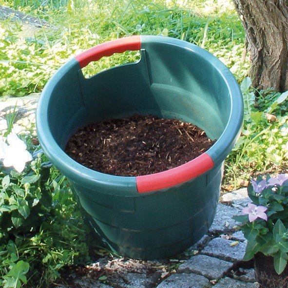 Universalkübel 30 Liter Garantia Toni Rundbehälter mit Griffen stapelbar grün