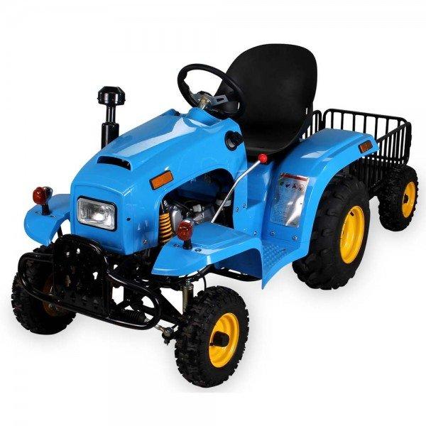 110cc Kindertraktor blau mit Anhänger