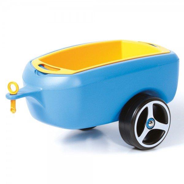 BRUMEE Kinder Rutschauto Hänger Caree blau-gelb