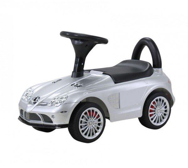 Kinder Rutschauto Mercedes SLR silber-metallic