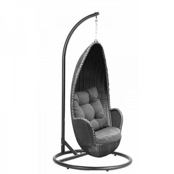 Rattan Hanging Chair ELENA schwarz