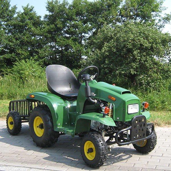 110cc Kindertraktor grün mit Anhänger