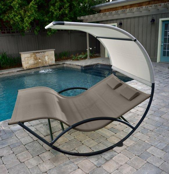 Gartenliege Vivere Double Chaise Rocker braun