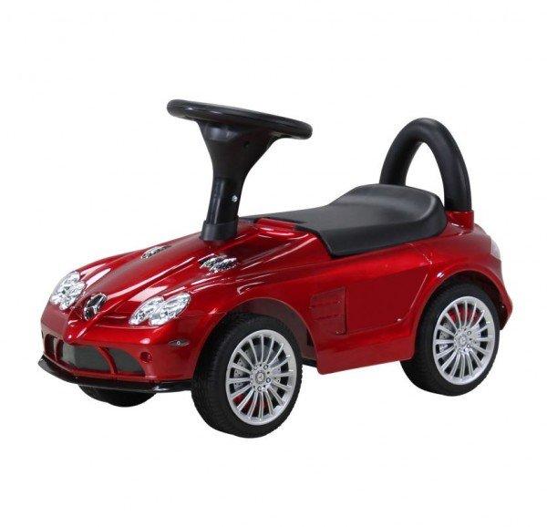Kinder Rutschauto Mercedes SLR rot-metallic