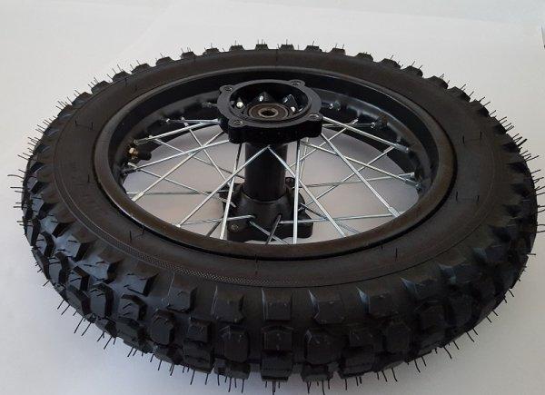 """Komplettrad 12"""" hinten Racing - achse ø12mm - Dirtbike Pitbike Mini Moto Crossbike"""