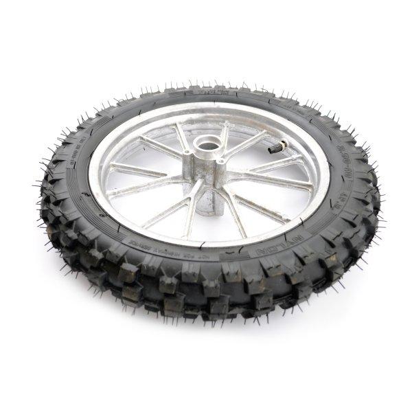 Hinterrad 2.50-10 incl. Schlauch, Reifen und Felge silber