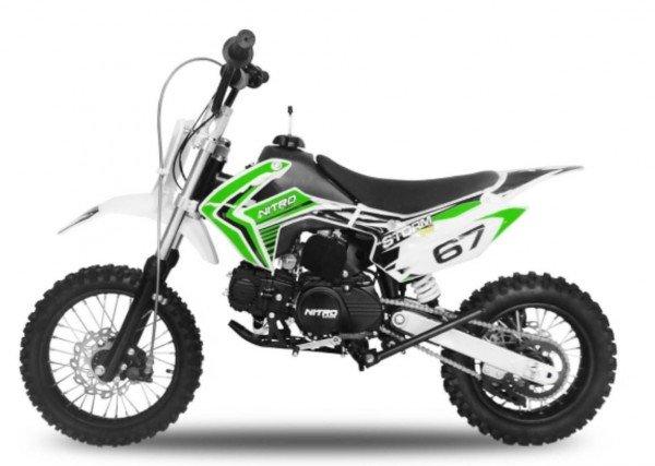 110cc Dirtbike Storm V2 14/12 Semi-Automatik mit Kick-Start
