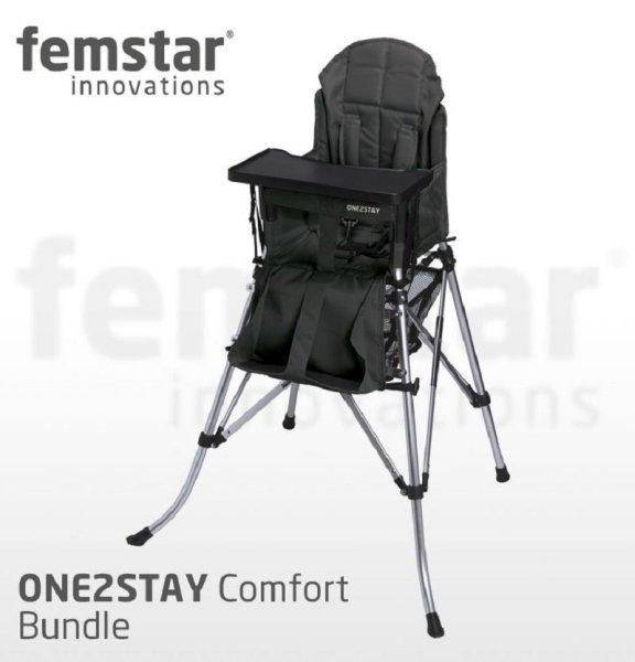 FemStar One2Stay High Chair Comfort Bundle CMF-DT Kinderhochstuhl mit verstellbare Rückenlehne und T