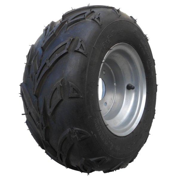 Komplettrad Felge mit Reifen 3-Loch 16x8-7 silber rechts