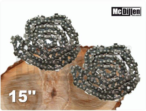 15 Zoll Set 2x Sägeketten Kettensäge Motorsäge Ersatzkette Kette