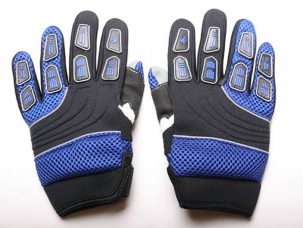 Motocross Kinderhandschuhe Cross Handschuhe für Kinder aus Nylon blau