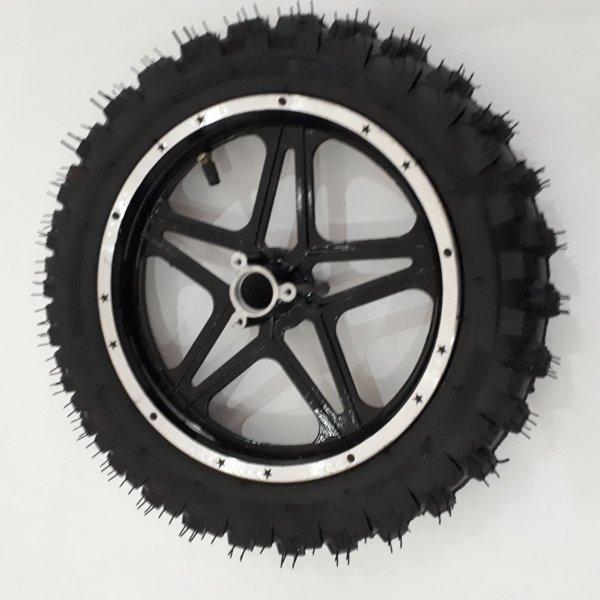 Hinterrad 2.50-10 incl Schlauch, Reifen und Felge schwarz