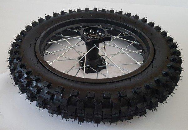 """Komplettrad 17"""" vorne Racing - achse ø12mm - Dirtbike Pitbike Mini Moto Crossbike"""