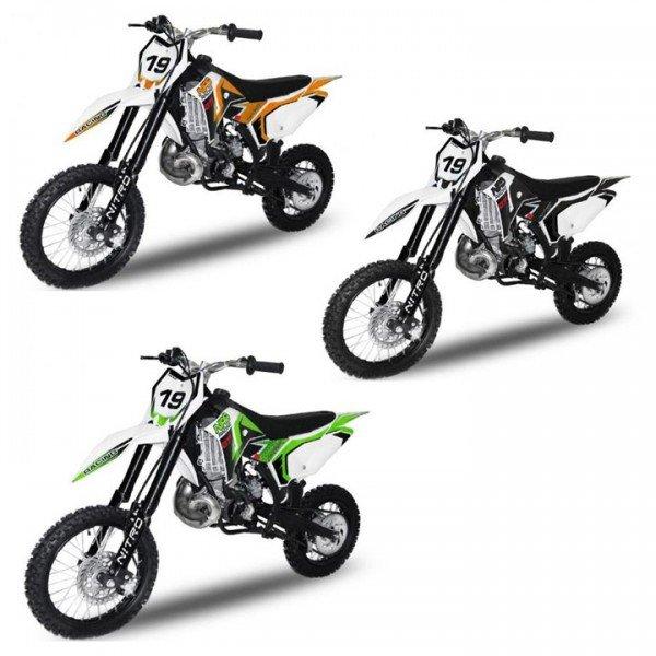 65cc Dirtbike NRG65 GTR 14/12 verschiedene Farben Wassergekühlt