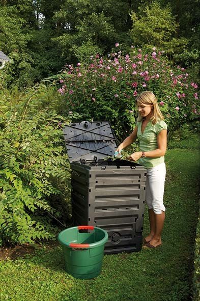 Komposter 300 Liter Garantia ECO Master schwarz