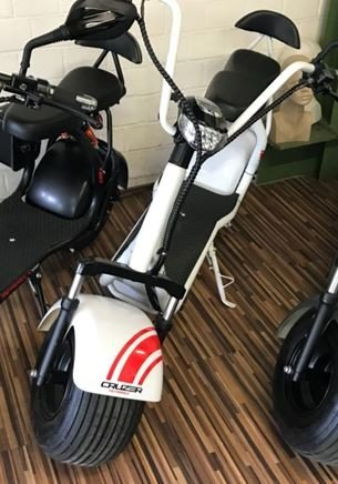 Elektro Chopper Scooter 1000W 60V Eco Cruzer Lithium, 2-Sitzer, Voll Federung matt in 3 Farben