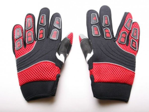Motocross Kinderhandschuhe Cross Handschuhe für Kinder aus Nylon rot