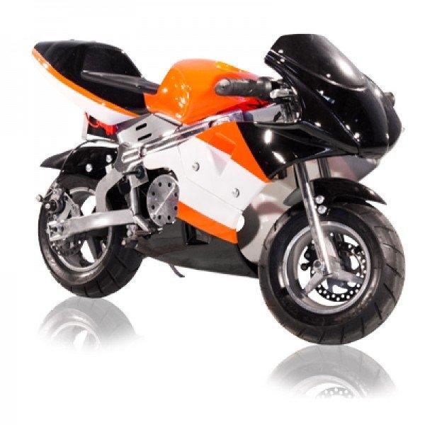 E-POCKET BIKE 500W / Farbe: Orange / Schwarz