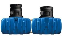 Regenwasser Tank Tanksystem 3000 Liter 4rain FLAT Flachtank
